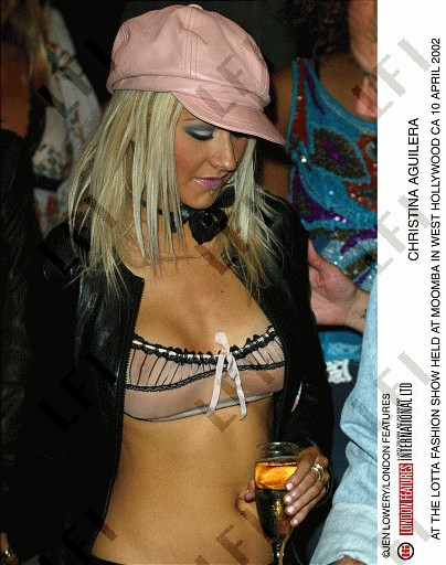 Christina aguilera fashion show 45